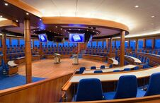 Cruise ship meeting room