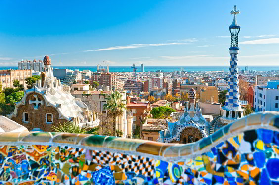 Top tourist attractions in Barcelona, Spain